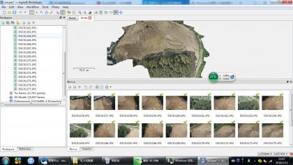PhotoScan处理无人机数据(一)生成正射影像